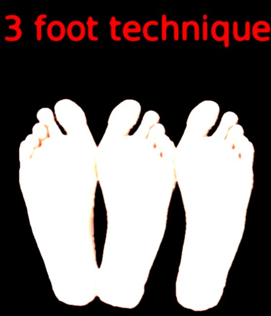 3 foot technique