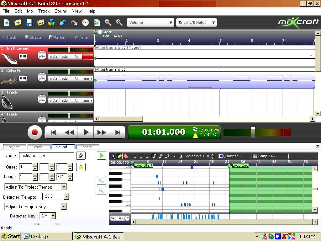 Mixcraft Window Layout